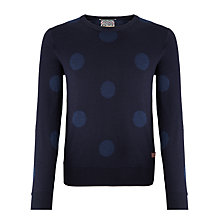 Buy Scotch & Soda Polka Dot Intarsia Knit Merino Jumper, Navy Online at johnlewis.com