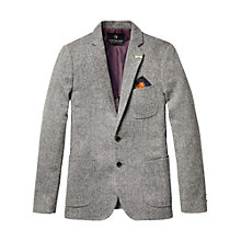 Buy Scotch & Soda Broken Herringbone Blazer, Grey Online at johnlewis.com