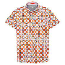 Buy Ted Baker Lanza Geo Print Shirt, Orange Online at johnlewis.com