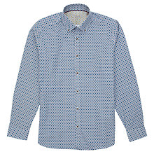 Buy Ted Baker Eyekat Printed Shirt, Blue Online at johnlewis.com