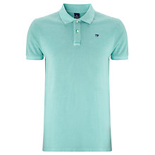 Buy Scotch & Soda Core Pique Polo Shirt, Azul Online at johnlewis.com