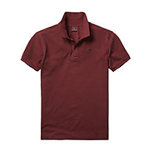 Buy Scotch & Soda Core Polo Shirt, Bordeaux Online at johnlewis.com