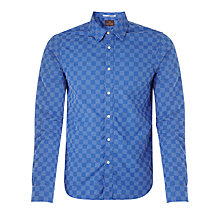 Buy Scotch & Soda Fantasy Weave Shirt, Blue Online at johnlewis.com