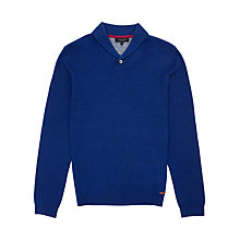 Buy Ted Baker Hortie Shawl Neck Jumper, Bright Blue Online at johnlewis.com