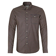 Buy Scotch & Soda Diamond Print Shirt, Navy Online at johnlewis.com