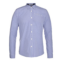 Buy Scotch & Soda Check Print Shirt, Navy/White Online at johnlewis.com