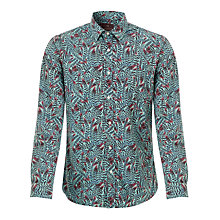 Buy Scotch & Soda Feather Shirt, Blue/Purple Online at johnlewis.com
