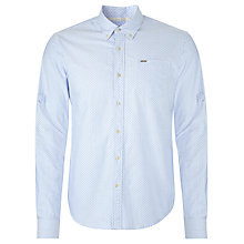 Buy Scotch & Soda Micro Print Oxford Shirt, Pale Blue Online at johnlewis.com