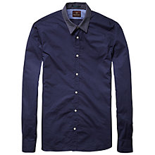 Buy Scotch & Soda Microdot Collar Shirt, Blue Online at johnlewis.com