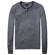 Buy Scotch & Soda Puppytooth Grandad Long Sleeve Top, Blue Online at johnlewis.com