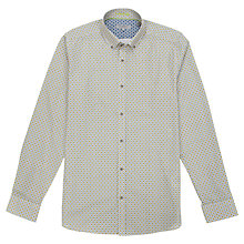 Buy Ted Baker Eyekat Printed Shirt, Yellow Online at johnlewis.com
