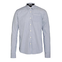 Buy Scotch & Soda Pinstripe Long Sleeve Shirt, Navy/White Online at johnlewis.com
