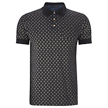 Buy Scotch & Soda Geo Floral Print Polo Shirt, Indigo Online at johnlewis.com