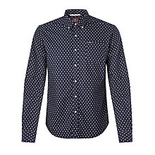 Buy Scotch & Soda Diamond Oxford Shirt, Navy Online at johnlewis.com