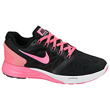 Buy Nike Lunarglide Running Trainers, Black/Pink Online at johnlewis.com