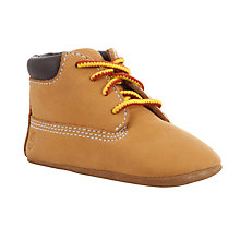 Buy Timberland Baby Crib Booties, Wheat Online at johnlewis.com