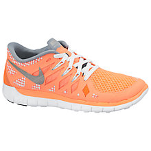 Buy Nike Childrens' Free 5.0 Trainers, Orange/Metallic Online at johnlewis.com