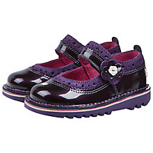 Buy Kickers Kick Brogbar Mary Jane Shoes, Dark Purple Online at johnlewis.com