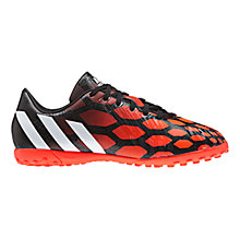 Buy Adidas Children's Absolado Instinct Football Trainers, Black/Red Online at johnlewis.com