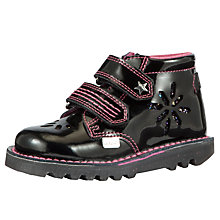 Buy Kickers Flakee Rip-Tape Leather Boots Online at johnlewis.com