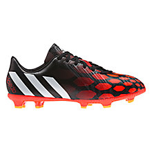 Buy Adidas Children's Absolado Instinct 6 Stud Football Boots, Black/Red Online at johnlewis.com