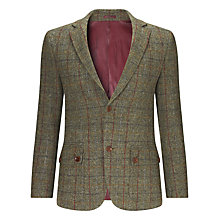 Buy John Lewis Harris Tweed Herringbone Blazer, Grey Online at johnlewis.com