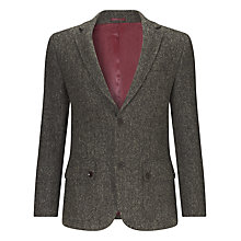 Buy John Lewis Harris Tweed Check Blazer, Green Online at johnlewis.com