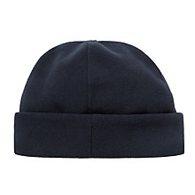 Buy John Lewis Fleece Beanie Hat, Navy Online at johnlewis.com