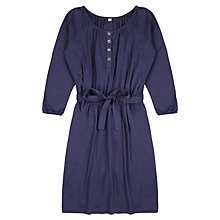 Buy Jigsaw Junior Girls' Gathered Jersey Dress, Blueberry Online at johnlewis.com