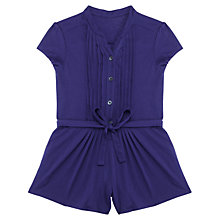 Buy Jigsaw Junior Girls' Jersey Short Sleeve Playsuit, Blueberry Online at johnlewis.com