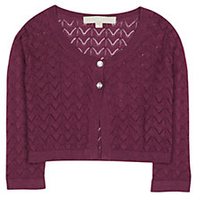 Buy Jigsaw Junior Girls' Lace Stitch Cropped Cardigan Online at johnlewis.com