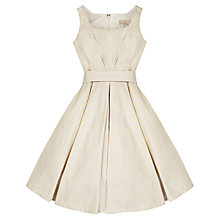 Buy Jigsaw Junior Girls' Flared Sparkle Dress, Ivory Online at johnlewis.com