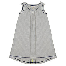 Buy Jigsaw Junior Girls' Low Hem Stripe Jersey Dress, Navy Online at johnlewis.com