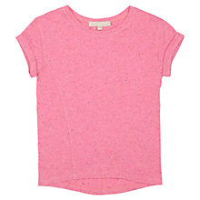 Buy Jigsaw Junior Girls' Slouchy Marl T-Shirt Online at johnlewis.com