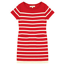 Buy Jigsaw Junior Girls' Stripe Knit Dress, Red Online at johnlewis.com
