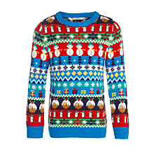 Buy John Lewis Boy Jaquard Christmas Jumper, Multi Online at johnlewis.com