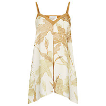 Buy Kaliko Etched Lily Camisole Top, Cream/Bronze Online at johnlewis.com