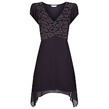 Buy Kaliko Hanky Hem Lace Silk Tunic Top Online at johnlewis.com