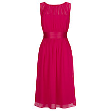 Buy Kaliko Ruched Chiffon Midi Dress, Raspberry Online at johnlewis.com