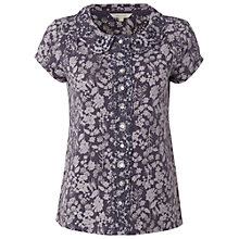 Buy White Stuff Delilah Print Shirt, Dark Periwinkle Online at johnlewis.com