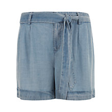 Buy Mint Velvet Meadow Denim Shorts, Ice Blue Online at johnlewis.com