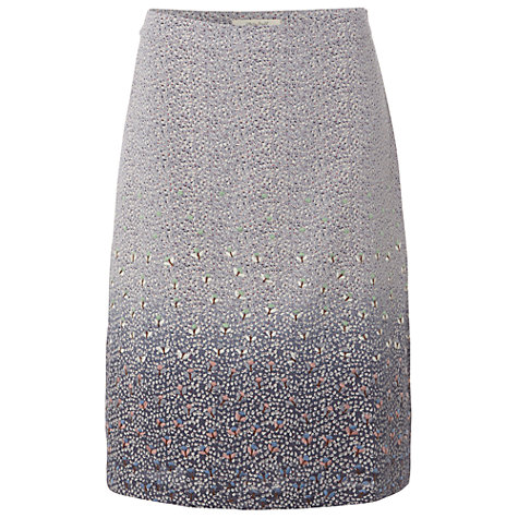 Buy White Stuff Embroidered Flower Skirt, Light Periwinkle Online at johnlewis.com