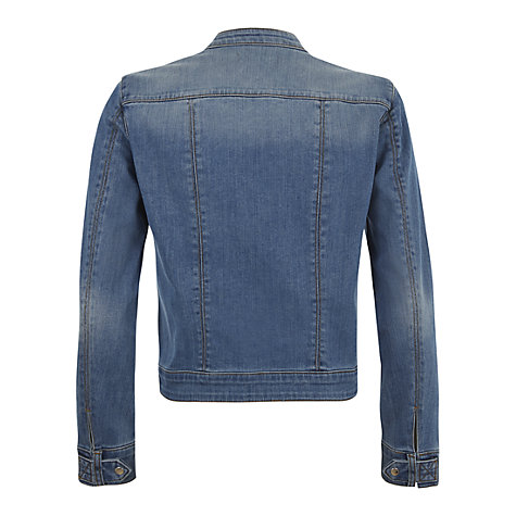 Buy Mint Velvet Indigo Denim Biker Jacket, Blue Online at johnlewis.com