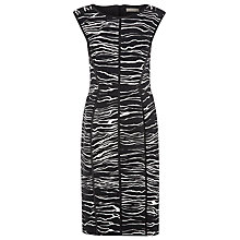 Buy Planet Print Panel Dress, Black/White Online at johnlewis.com