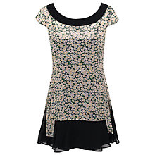 Buy French Connection Desert Tropicana Georgette Dress, Black/Multi Online at johnlewis.com