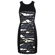 Buy French Connection Shadow Dance Strap Dress, Black/Multi Online at johnlewis.com