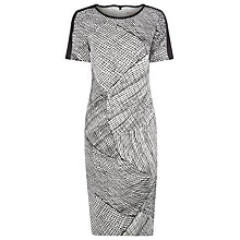 Buy Planet Beatrix Print Dress, Black/White Online at johnlewis.com