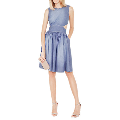Buy French Connection Ash Denim Dress, Shadow Blue Online at johnlewis.com
