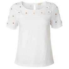 Buy White Stuff Flower Press Tee, White Online at johnlewis.com
