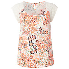 Buy White Stuff Lola Tee, Fluro Coral Online at johnlewis.com